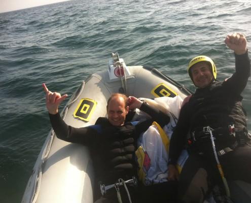 excursiones de kitesurf asistida con barco